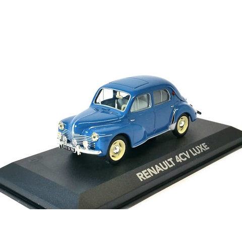 Renault 4CV Luxe blue - Model car 1:43