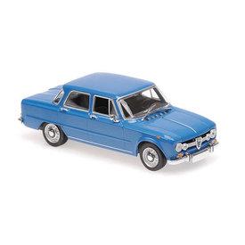 Maxichamps Model car Alfa Romeo Giulia 1600 1970 blue 1:43