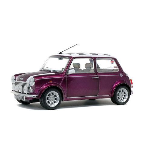 Model car Mini Cooper 1.3i Sport Pack 1997 purple/white 1:18