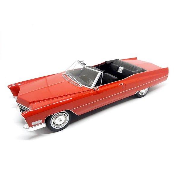 Modelauto Cadillac DeVille Convertible 1968 rood 1:18