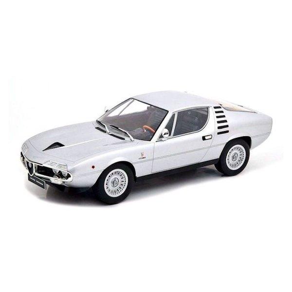 Modelauto Alfa Romeo Montreal 1970 zilver1:18 | KK-Scale