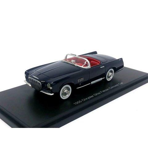Chrysler Ghia Falcon 1955 donkerblauw - Modelauto 1:43