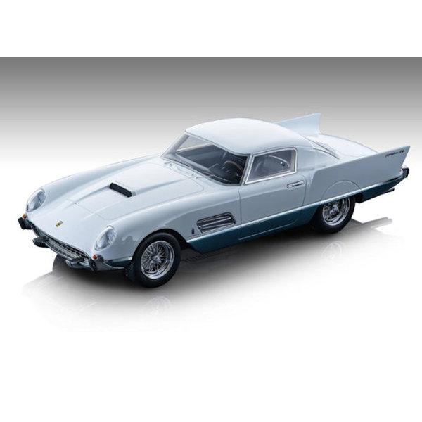 Model car Ferrari 410 Superfast 0483 SA 1956 white/blue 1:18 | Tecnomodel
