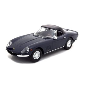 KK-Scale Model car Ferrari 275 GTB/4 NART Spyder 1967 dark blue 1:18