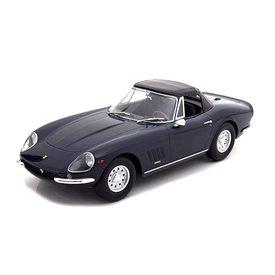 KK-Scale | Modelauto Ferrari 275 GTB/4 NART Spyder 1967 donkerblauw 1:18