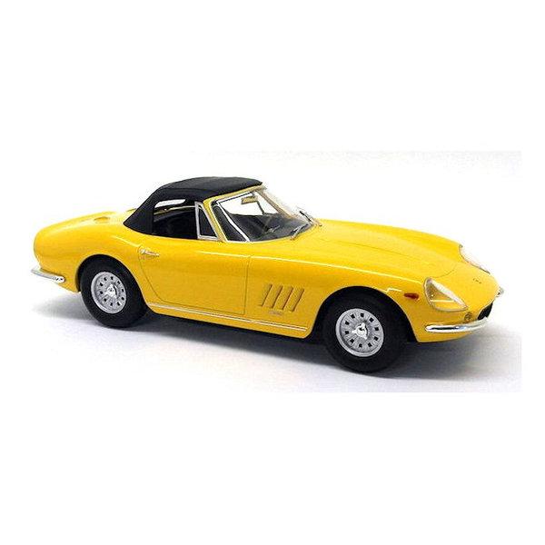 Model car Ferrari 275 GTB/4 NART Spyder 1967 yellow 1:18 | KK-Scale
