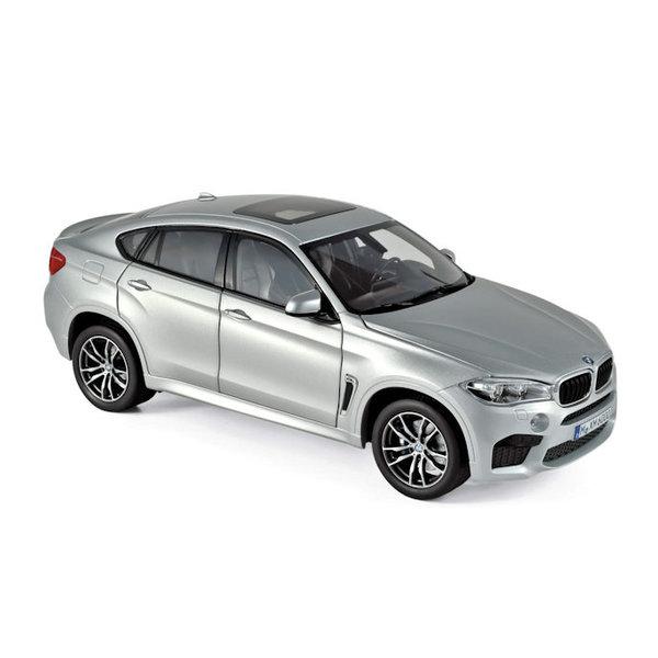 Modelauto BMW X6 M 2015 zilver 1:18 | Norev