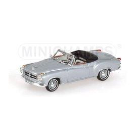 Minichamps Borgward Isabella Coupe Cabriolet 1959 zilver - Modelauto 1:43
