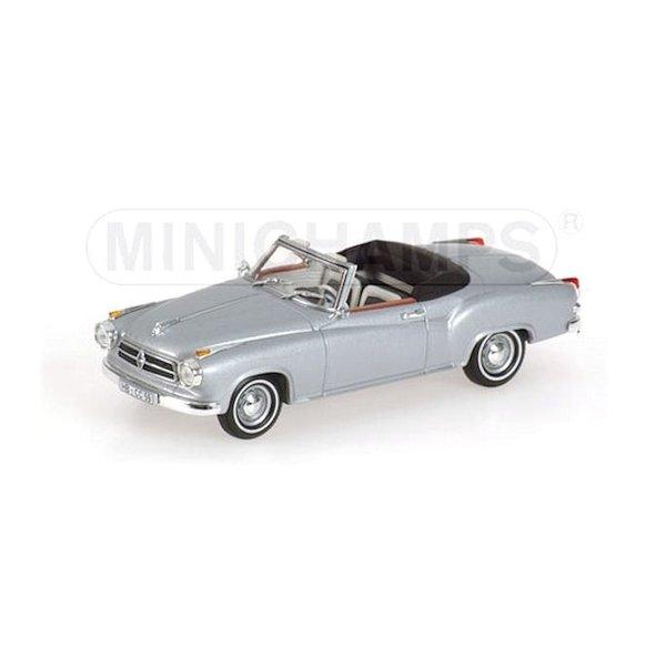 Model car Borgward Isabella Coupe Cabriolet 1959 silver 1:43   Minichamps