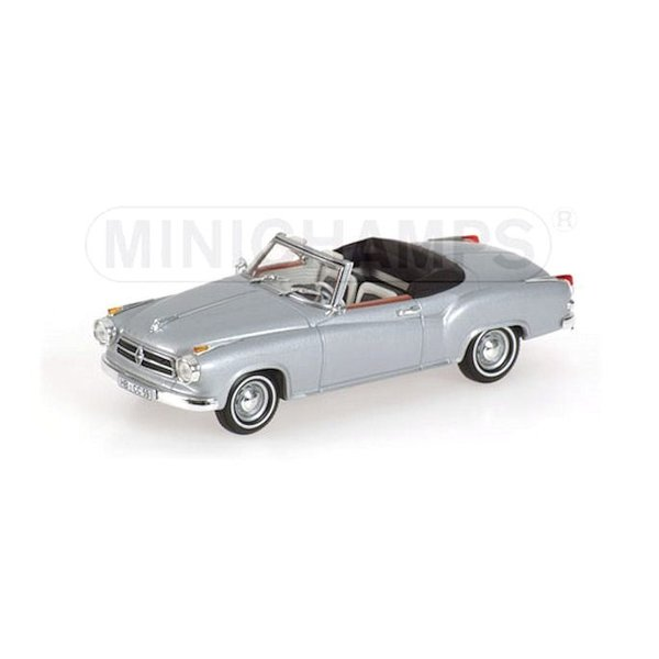 Modelauto Borgward Isabella Coupe Cabriolet 1959 zilver 1:43   Minichamps