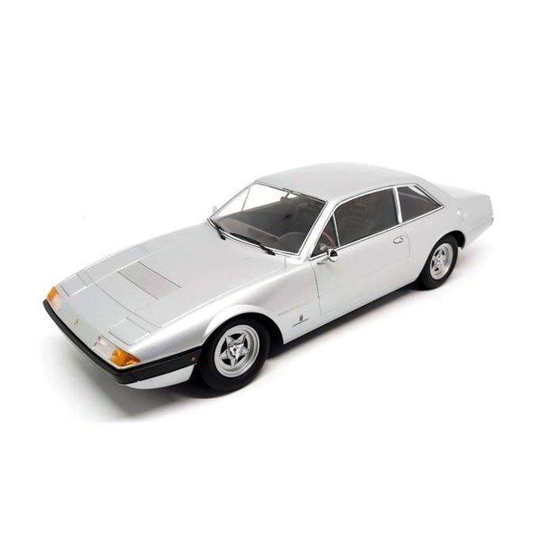 Modelauto Ferrari 365 GT4 2+2 1972 zilver 1:18 | KK-Scale