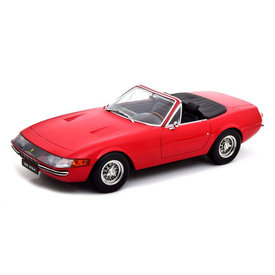 KK-Scale Model car Ferrari 365 GTS Daytona Cabrio 1969 (US-Version) red 1:18