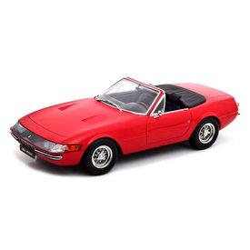 KK-Scale | Modelauto Ferrari 365 GTS Daytona Cabrio 1969 (US-Version) rood 1:18