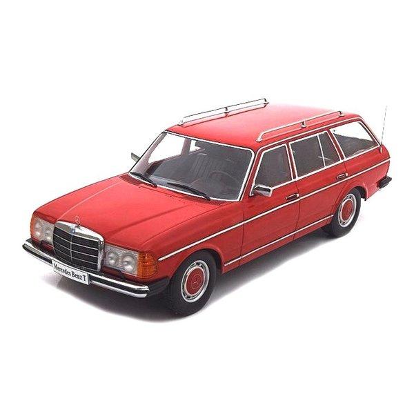 Modelauto Mercedes Benz 250T station wagon (W123) 1978 rood 1:18   KK-Scale