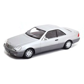 KK-Scale Mercedes Benz 600 SEC (C140) 1992 silver - Model car 1:18