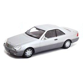 KK-Scale Mercedes Benz 600 SEC (C140) 1992 zilver - Modelauto 1:18