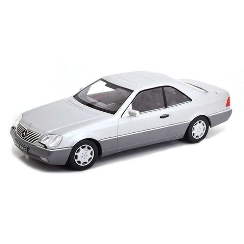 Mercedes Benz 600 SEC (C140) 1992 zilver - Modelauto 1:18