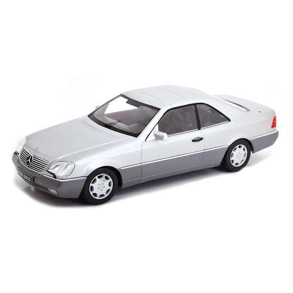 Modelauto Mercedes Benz 600 SEC (C140) 1992 zilver 1:18 | KK-Scale