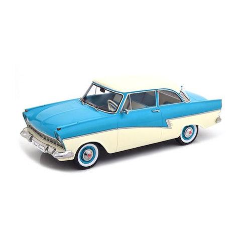 Ford Taunus 17M P2 1957 blauw/creme - Modelauto 1:18