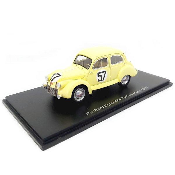 Model car Panhard Dyna X84 No. 57 1950 light yellow 1:43 | Spark