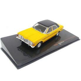 Ixo Models Ford Taunus GXL 1973 gelb / schwarz - Modellauto 1:43