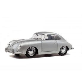 Solido Porsche 356 Pre A 1953 silver - Model car 1:18