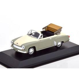 Maxichamps Wartburg 311 Cabriolet 1958 grey/white - Model car 1:43