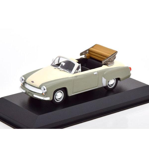 Modelauto Wartburg 311 Cabriolet 1958 grijs/wit 1:43 | Maxichamps