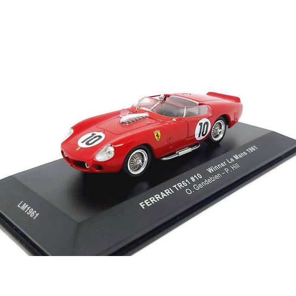 Model car Ferrari TRI/61 No. 10 1961 red 1:43 | Ixo Models