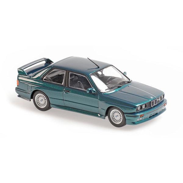 Model car BMW M3 (E30) 1987 green metallic 1:43   Maxichamps