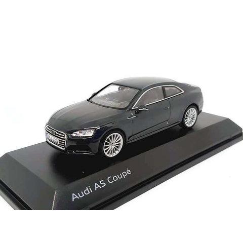 Audi A5 Coupe 2017 Manhattan grey - Model car 1:43