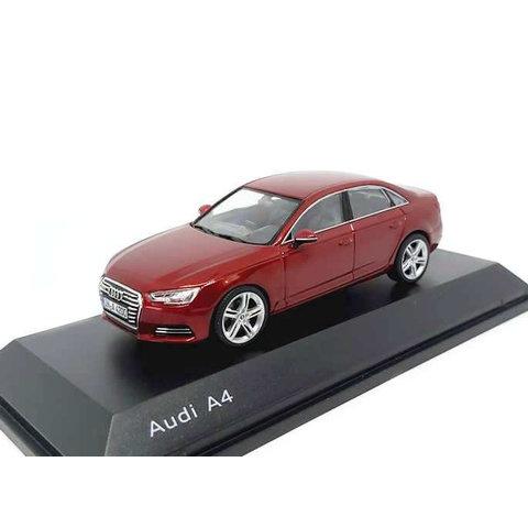 Audi A4 2015 Matador red - Model car 1:43