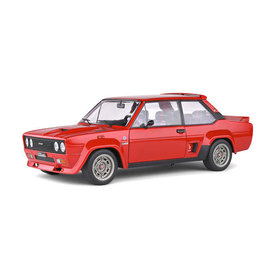 Solido Fiat 131 Abarth 1980 rood - Modelauto 1:18