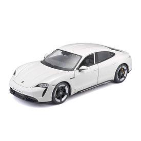 Bburago Porsche Taycan Turbo S white - Model car 1:24