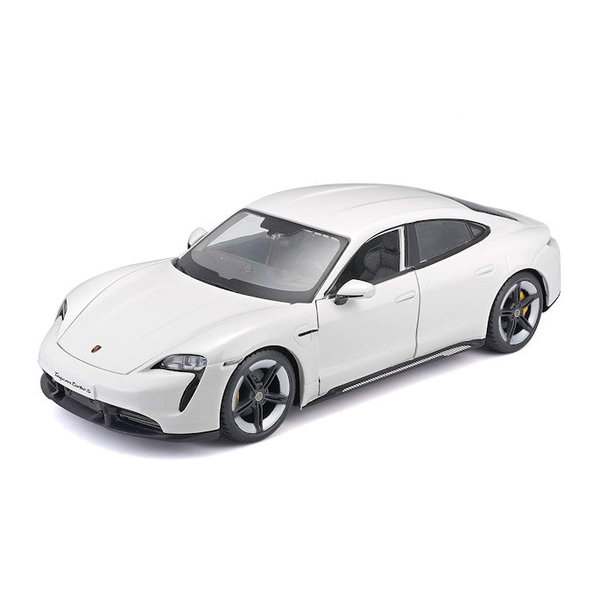 Modelauto Porsche Taycan Turbo S wit 1:24   Bburago