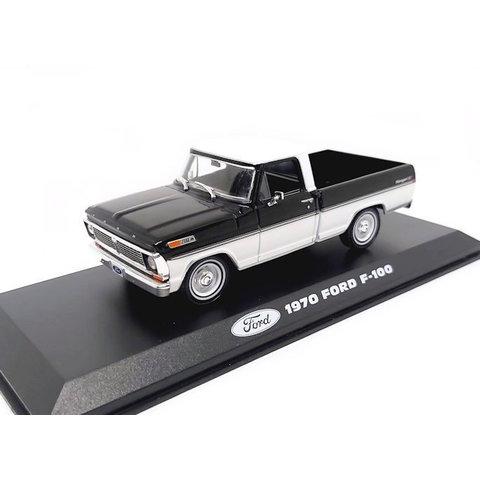 Modelauto Ford F-100 1970 zwart/wit 1:43