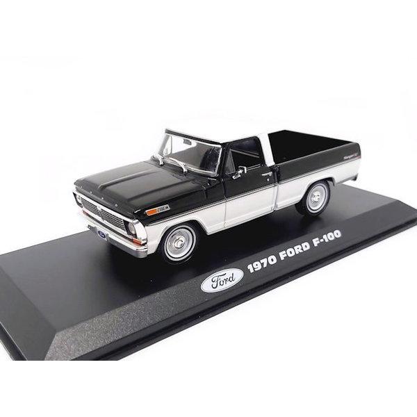 Model car Ford F-100 1970 black/white 1:43 | Greenlight