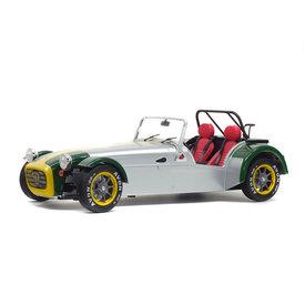 Solido Lotus Seven 1989 aluminium/groen - Modelauto 1:18