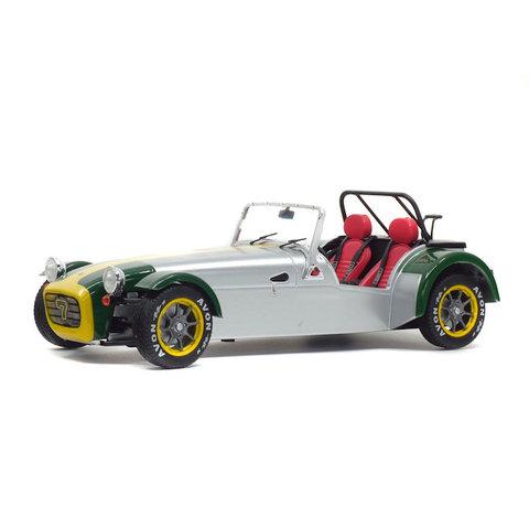 Lotus Seven 1989 aluminium/groen - Modelauto 1:18
