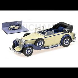 Minichamps Modelauto Maybach Zeppelin 1932 wit/blauw 1:43