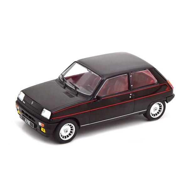 Modelauto Renault 5 Alpine 1:24 zwart 1982 | Whitebox