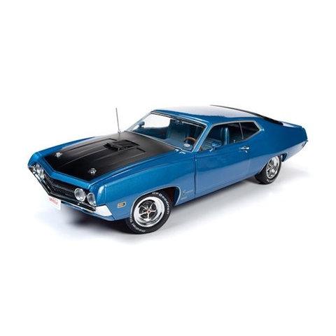 Model car Ford Torino Cobra 1970 blue metallic 1:18