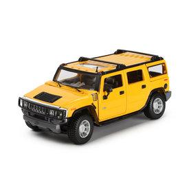 Maisto | Modelauto Hummer H2 SUV 2003 geel 1:27