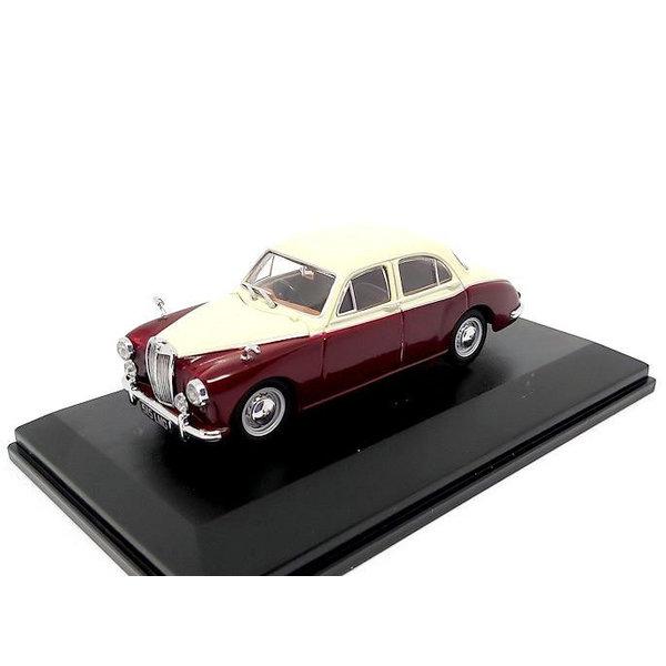 Model car MG Magnette ZB 1:43 Varitone ivory/autumn red   Oxford Diecast