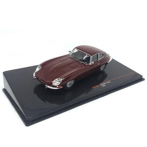 Modelauto Jaguar E-type 1963 donkerrood 1:43
