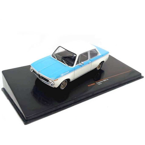 Model car BMW Koepchen 2002 Tii 1974 white/blue 1:43
