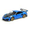 Porsche 911 (991 II) GT2 RS 1:18 Weissach Package blauw 2018   Minichamps