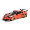 Model car Porsche 911 (991 II) GT2 RS 1:18 Weissach Package orange 2018 | Minichamps