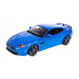 Bburago Modelauto Jaguar XKR-S blauw 1:24
