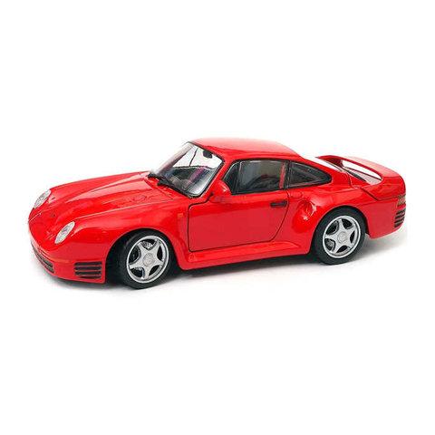 Modelauto Porsche 959 rood 1:24